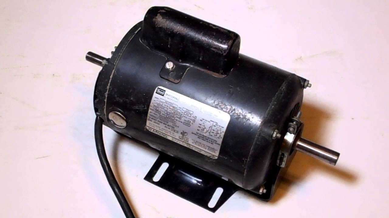Craftsman 1 hp 115V Capacitor Start Motor 11312201 After Bearing Change  YouTube