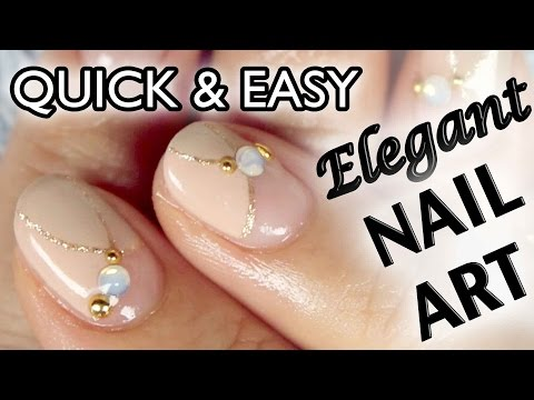 Simple & Elegant Office How-to Japanese Nail Art [English Subs] 可愛いオフィスネイルアート