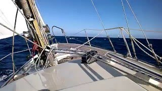 Sailing Sóller to Sitges on a 25-feet sailboat