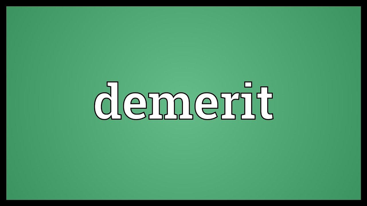 Wonderful Demerit Meaning