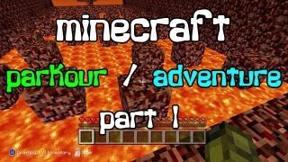 minecraft xbox 360 parkour adventure map father and son play part 1 of 2