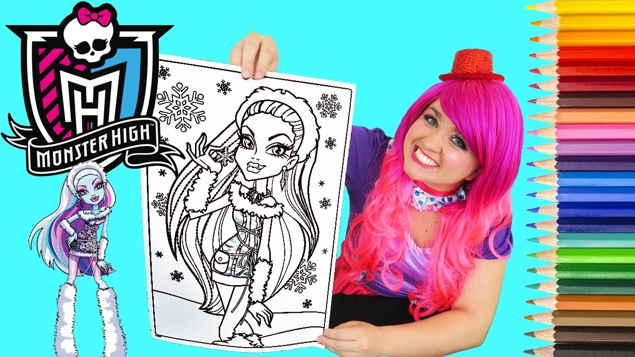 coloring monster high abbey bominable giant coloring book page colored pencil kimmi the clown - Giant Coloring Book