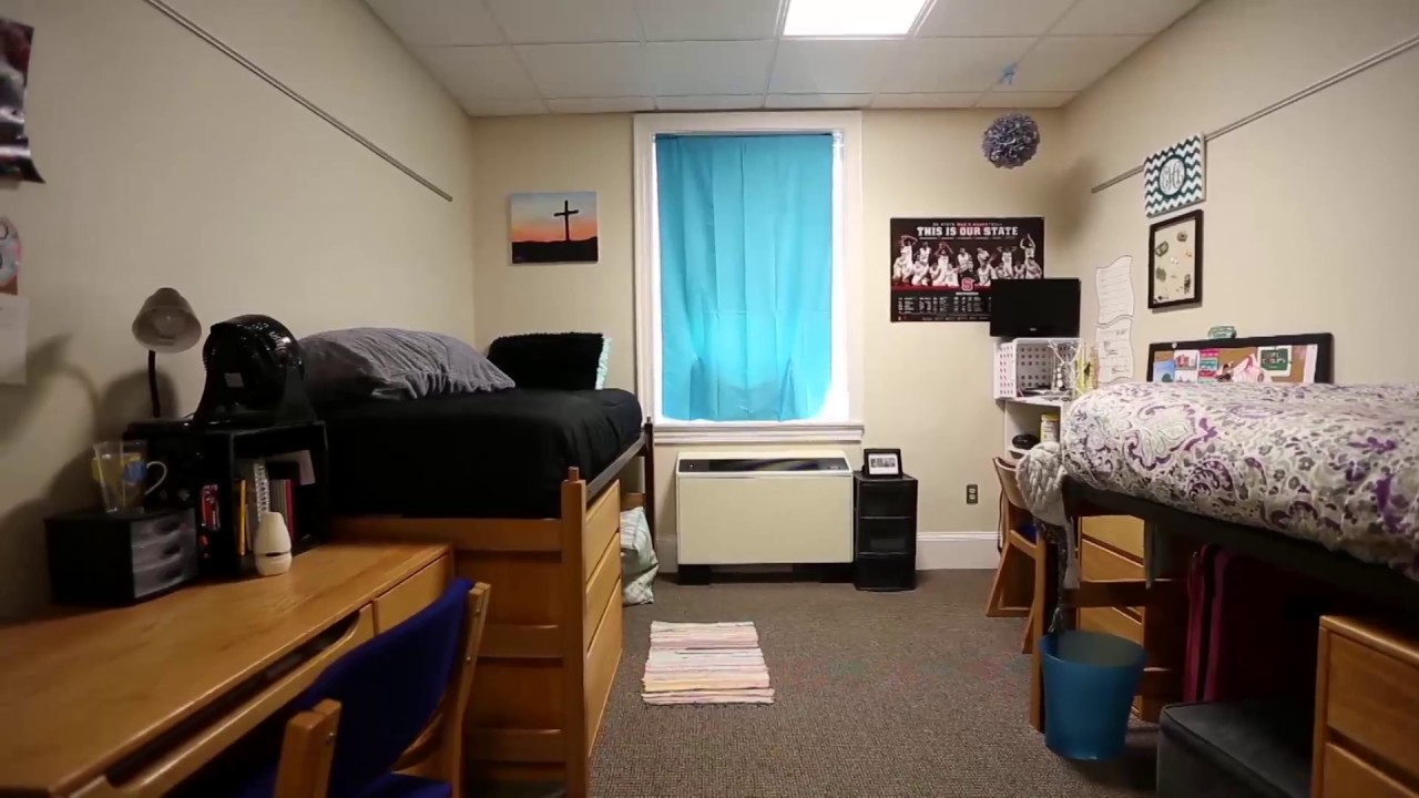 This is the inside of the dorm room.