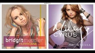▶ Hurricane vs Party In the U S A Mashup Bridgit Mendler & Miley Cyrus