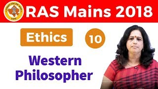 9:00 PM - RAS Mains 2018 | Ethics by Dr. Pushpa Ma'am |  Western Philosopher