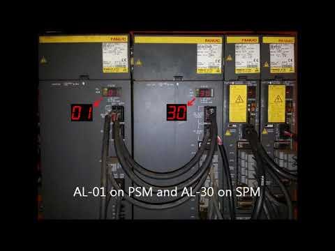 Fanuc Power Supply Module Alarm 01 or AL-01 and Spindle Module Alarm 30 or  AL-30