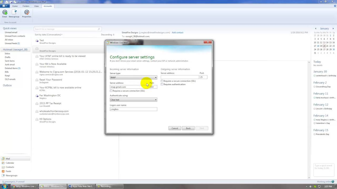 Set Up Gmail with Windows Live Mail 2012