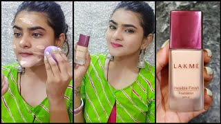 Lakme Invisible Finish Foundation review and Demo SHADE 01 Affordable SPF 8 Ria Das