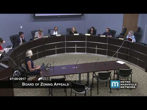 07/20/17 Board of Zoning Appeals