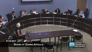 07/20/17 Board of Zoning Appeals