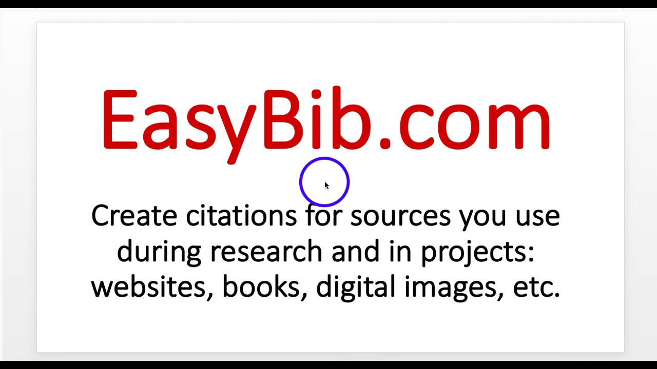 easybib book citing Students often have a difficult time understanding how to cite sources join our mla citations series and teach your students how easy it is to cite in mla format.