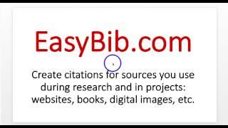 Cite a book using EasyBib