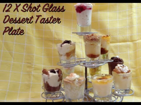 Dessert Shot Glass Shooters Taster Plate Thermochef Video Recipe cheekyricho