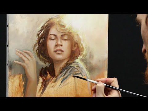 ** Let's Play With Sunlight ** - Oil Painting Time Lapse