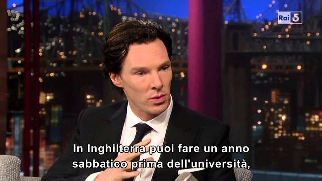 Benedict Cumberbatch @ David Letterman Show 09/05/13 SUB ITA