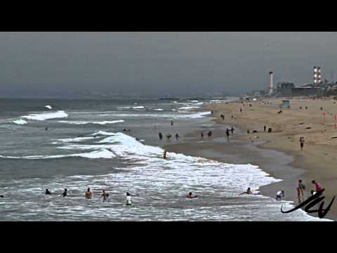 Manhattan Beach, California on a cloudy summer day