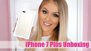 IPHONE 7 PLUS GOLD UNBOXING + REVIEW