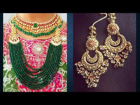 Kundan Polki, Indian Bridal Jewelry, Art Karat Style, Sabyasachi Inspired Jewelry Designs 2018