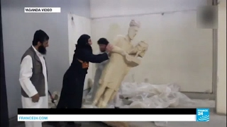 Iraq  Rubble and ash in Mosul museum retaken from Islamic state group jihadists