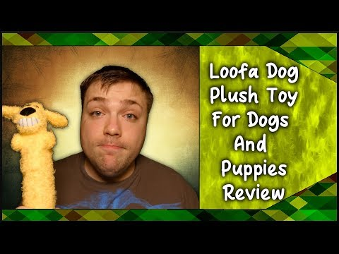 Loofa Dog Plush Toy For Dogs and Puppies - Perfect toy for Teething? - MumblesVideos Product Review