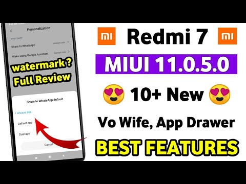 Redmi 7 MIUI 11.0.5.0 😍 10+ New Features Review | Redmi 7 New Update MIUI 11.0.5.0 Review