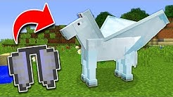 How to Get HORSE WINGS in Minecraft TUTORIAL! (Pocket Edition, Xbox, PC)