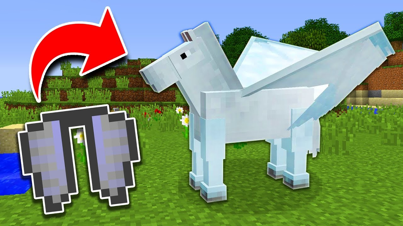 How To Get Horse Wings In Minecraft Tutorial Pocket Edition Xbox