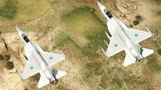 Pakistan's JF17 and F16 Air to Air fight compilation-GTA5