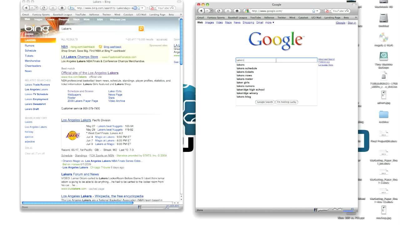 Microsoft Bing Vs. Google - Search Engine Wars - YouTube