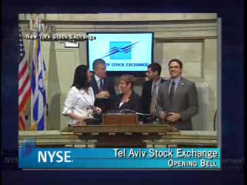 Tel Aviv Stock Exchange Opening Bell In NYSE - 30.06.2008