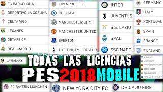 PES 2018 MOBILE FULL LICENCIAS LIGA ESPAÑOLA LIGA INGLESA LIGA ITALIANA LIGA FRANCESA Y PAISES ETC