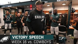 A Little Bit of Faith Can Move Mountains Week 16 Victory Speech | Philadelphia Eagles