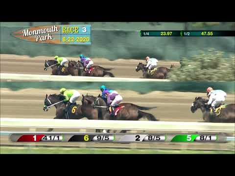 video thumbnail for MONMOUTH PARK 08-22-20 RACE 3