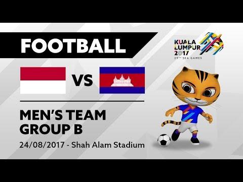 KL2017 29th SEA Games | Men's Football - INA 🇮🇩 vs CAM 🇰🇭 | 24/08/2017