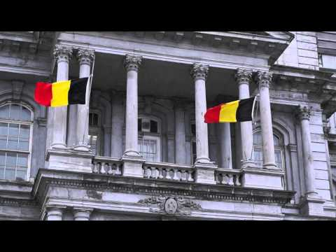 Two Belgian Flags Fly At Half-Mast From Montreal City Hall 00003