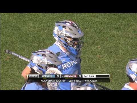 Maryland vs Johns Hopkins college lacrosse highlights 2015
