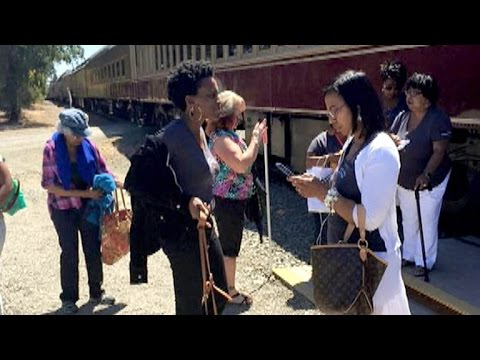 Group of black women kicked off of wine train