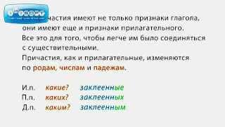 Причастие в русском языке | 5-ege.ru