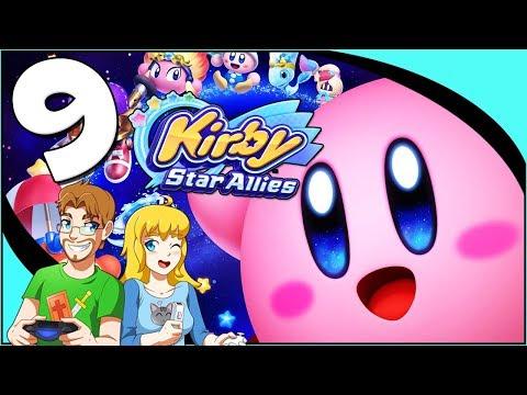 Kirby Star Allies - Walkthrough Part 9 Grand Ma Boss (Nintendo Switch) Co-Op Gameplay