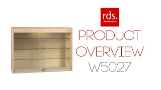 W5027 Wall Mountable Glass Display Cabinet