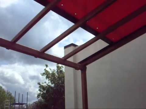Arbor Retractable Terrace Roof Canopy from Outside Structure Solutions