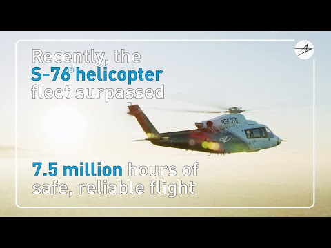 S-76 Fleet Achieves 7.5 Million Flight Hours