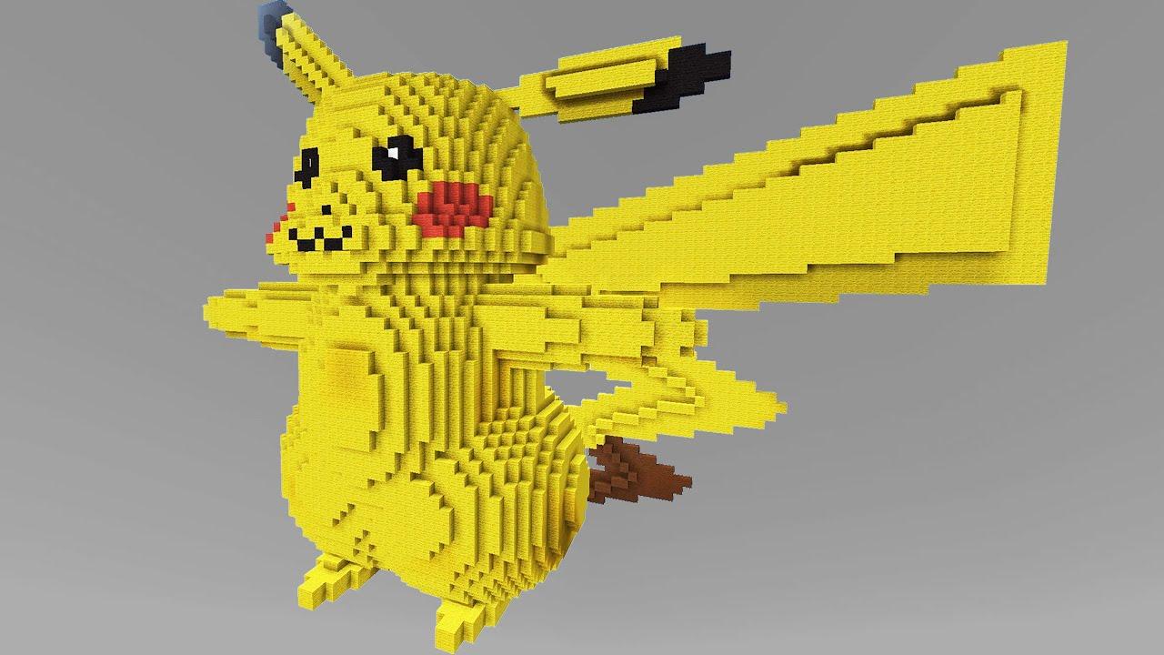 Minecraft Vs Pokemon Go GIGA PIKACHU PvZPokego