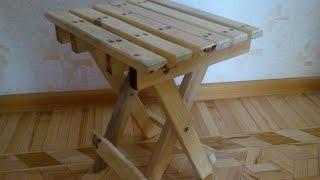 Складной стул, табурет своими руками(Делаем складной табурет сами, все размеры деталей представлены в видео., 2017-01-29T10:34:58.000Z)