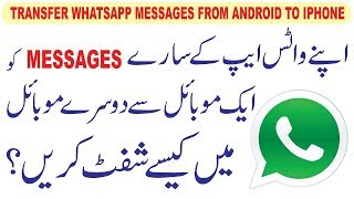 How to backup Whatsapp Chat History and Transfer Whatsapp files from Android to iPhone