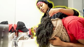 SHE WASHED MY HAIR FOR THE FIRST TIME!!!