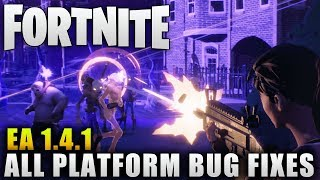 """Fortnite News """"Early Access Patch 1.4.1"""" More Bug Fixes """"Fortnite Patch Notes"""""""
