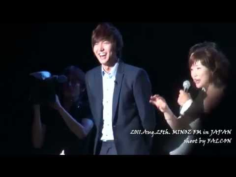 2011.Aug.25th. MINOZ FM in JAPAN with LEE MIN HO