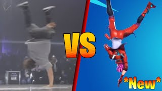 ALL *New* Fortnite Dances and Emotes vs Real Life (No Sweat, Reckless, Sizzlin´)