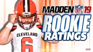 Madden 19 TOP 5 Rookie Ratings - Who are the BEST Rated Rookies in Madden 19?
